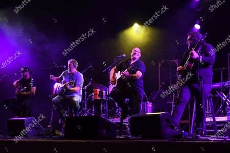 Jett Beres, Andrew Copeland, Ken Block and Ryan Newell of Sister Hazel perform at the Old School Square Pavilion, Delray Beach, Florida, USA - 17 Apr 2021