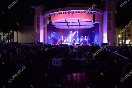 Jett Beres, Andrew Copeland, Ken Block, Mark Trojanowski and Ryan Newell of Sister Hazel perform at the Old School Square Pavilion, Delray Beach, Florida, USA - 17 Apr 2021
