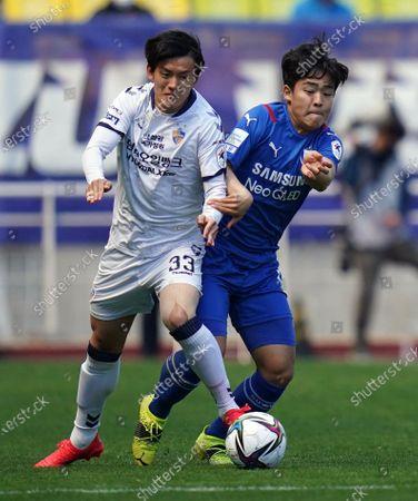 Editorial photo of Suwon Samsung Bluewings v Ulsan Hyundai, 2021 K League 1, football, Suwon World Cup Stadium, Suwon, South Korea - 18 Apr 2021