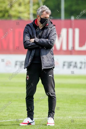 Maurizio Ganz head coach of AC Milan during the Women Serie A match between AC Milan and SSC Napoli at Centro Sportivo Vismara on April 18, 2021 in Milan, Italy.