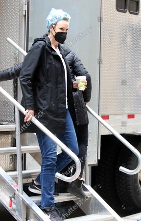 Stock Image of Jane Lynch heading to set of The Marvelous Mrs. Maisel