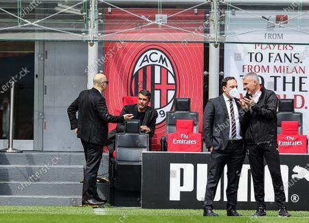 Paolo Maldini Technical Area Director of AC Milan talks to Ivan Gazidis A.D. of AC Milan