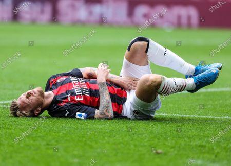 Simon Kjaer of AC Milan injured