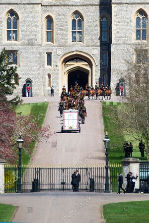 Editorial image of Prince Philip funeral at St George's Chapel, Windsor, UK - 17 Apr 2021