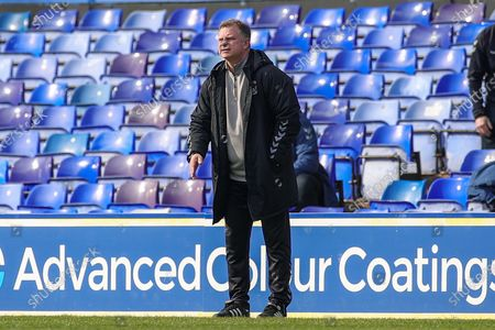 Mark Robins Manager of Coventry City during the EFL Sky Bet Championship match between Coventry City and Barnsley at the Trillion Trophy Stadium, Birmingham