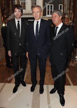 Bernard Arnault, Antoine Arnault and Yves Carcelle