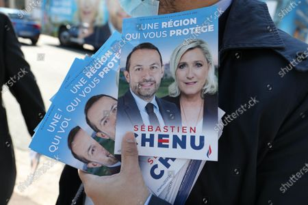 Editorial photo of Sebastien Chenu, Regional elections, Douai, France - 17 Apr 2021