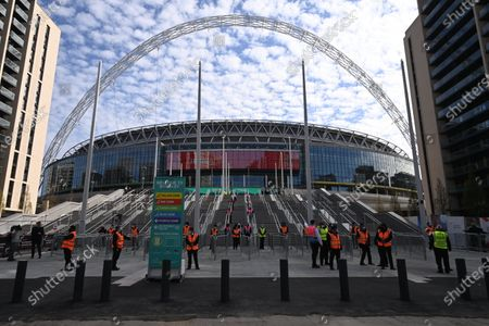 Crowds return to FA Cup Semi-Finals Wembley, London
