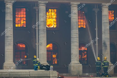 Fire at University of Cape Town