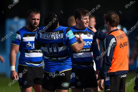 Stock Image of Ben Spencer of Bath Rugby looks on after the match