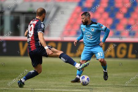 Editorial photo of Soccer: Serie A 2020-2021 : Bologna 4-1 Spezia, Bologna, Italy - 18 Apr 2021