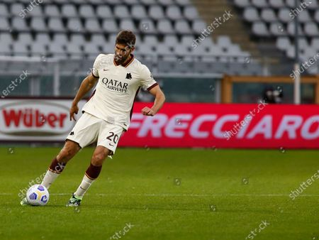 Stock Image of Federico Fazio during Serie A match between Torino and Roma in Turin, Italy on April 18, 2021.