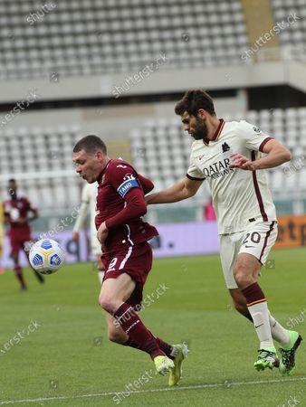 Federico Fazio (AS Roma) vs Andrea Belotti (Torino FC)