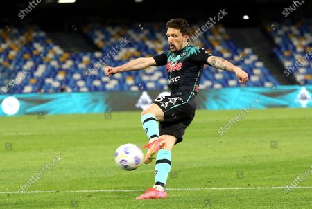 Napoli's Mario Rui in action during the Italian Serie A soccer match between SSC Napoli and Inter Milan at Diego Armando Maradona stadium in Naples, Italy, 18 April 2021.