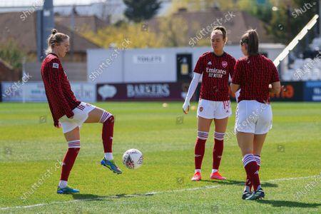 Vivianne Miedema (#11 Arsenal), Jill Roord (#14 Arsenal) and Katie McCabe (#15 Arsenal)
