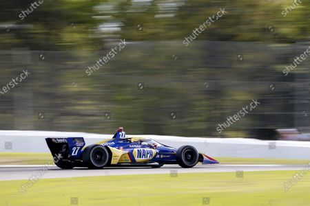 Stock Image of BARBER MOTORSPORTS PARK, UNITED STATES OF AMERICA - APRIL 18: #27: Alexander Rossi, Andretti Autosport Honda at Barber Motorsports Park on Sunday April 18, 2021 in Birmingham, United States of America. (Photo by Jake Galstad / LAT Images)