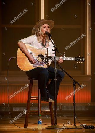 Miranda Lambert rehearses for the 56th Academy of Country Music Awards