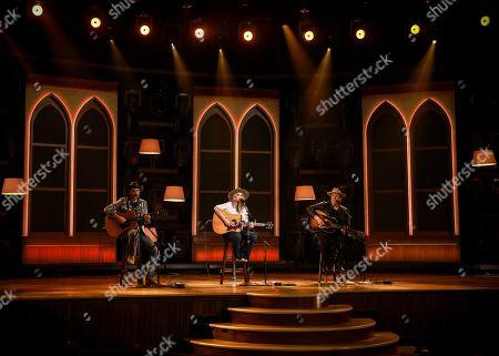 Jon Randall, Miranda Lambert, and Jack Ingram rehearses for the 56th Academy of Country Music Awards