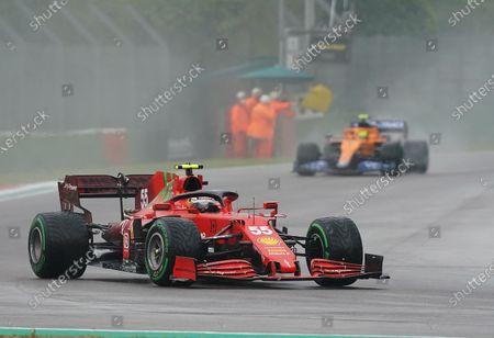 Stock Photo of Carlos Sainz Jr. (ESP#55), Scuderia Ferrari Mission Winnow, Lando Norris (GBR#4), McLaren F1 Team