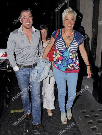 Stock Picture of Andrew Cowles with his sister and Denise Welch