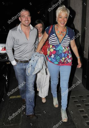 Editorial image of Andrew Cowles and Denise Welch leaving the Ivy restaurant, London, Britain - 25 May 2010