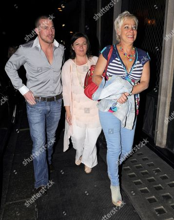 Editorial photo of Andrew Cowles and Denise Welch leaving the Ivy restaurant, London, Britain - 25 May 2010