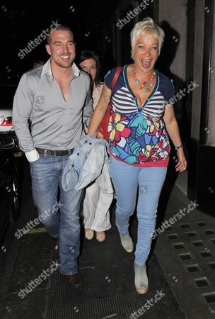 Stock Image of Andrew Cowles with his sister and Denise Welch