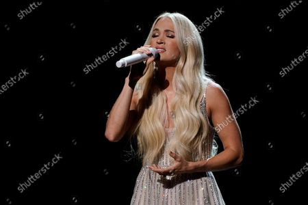 Carrie Underwood performs at the 56th annual Academy of Country Music Awards, at the Grand Ole Opry in Nashville, Tenn. The awards show airs on April 18 with both live and prerecorded segments