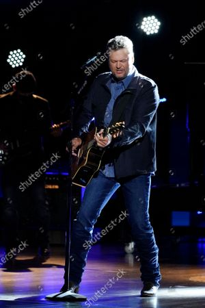 Blake Shelton performs at the 56th annual Academy of Country Music Awards, at the Grand Ole Opry in Nashville, Tenn. The awards show airs on April 18 with both live and prerecorded segments