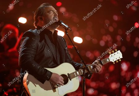 Lee Brice performs at the 56th annual Academy of Country Music Awards, at the Grand Ole Opry in Nashville, Tenn