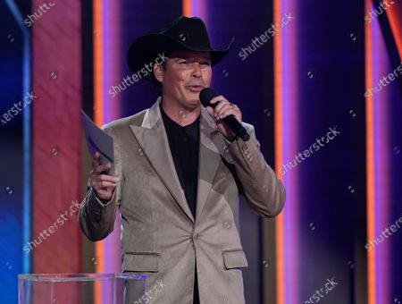 Stock Picture of Clay Walker presents the award for album of the year at the 56th annual Academy of Country Music Awards, at the Grand Ole Opry in Nashville, Tenn