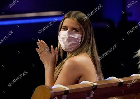 Maren Morris is seen in the audience at the 56th annual Academy of Country Music Awards, at the Grand Ole Opry in Nashville, Tenn