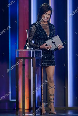 Martina McBride presents the award for single of the year at the 56th annual Academy of Country Music Awards, at the Grand Ole Opry in Nashville, Tenn