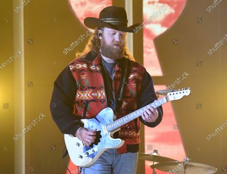 John Osborne, of Brothers Osborne, performs at the 56th annual Academy of Country Music Awards, at the Ryman Auditorium in Nashville, Tenn