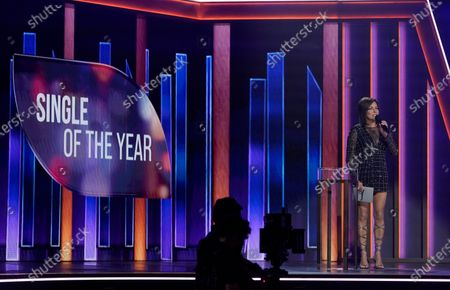 Stock Image of Martina McBride presents the award for single of the year at the 56th annual Academy of Country Music Awards, at the Grand Ole Opry in Nashville, Tenn