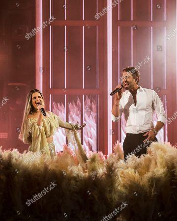 Maren Morris and Ryan Hurd performs
