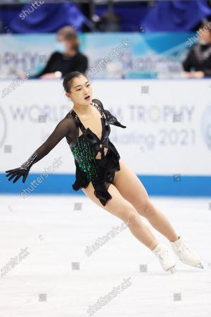 Kaori Sakamoto (JPN) - Figure Skating :  ISU World Team Trophy in Figure Skating 2021  Women's Free Skating  at Maruzen Intec Arena Osaka, Osaka, Japan.