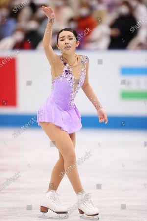 Karen Chen (USA) - Figure Skating :  ISU World Team Trophy in Figure Skating 2021  Women's Free Skating  at Maruzen Intec Arena Osaka, Osaka, Japan.