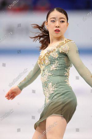 Rika Kihira (JPN) - Figure Skating :  ISU World Team Trophy in Figure Skating 2021  Women's Free Skating  at Maruzen Intec Arena Osaka, Osaka, Japan.