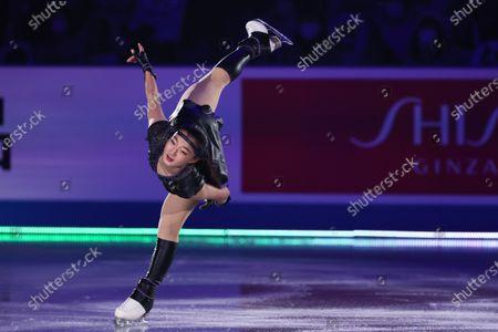Stock Picture of Kaori Sakamoto (JPN) - Figure Skating :  ISU World Team Trophy in Figure Skating 2021  Exhibition  at Maruzen Intec Arena Osaka, Osaka, Japan.