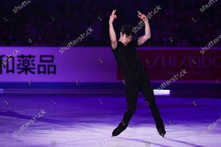 Stock Image of Nathan Chen (USA) - Figure Skating :  ISU World Team Trophy in Figure Skating 2021  Exhibition  at Maruzen Intec Arena Osaka, Osaka, Japan.