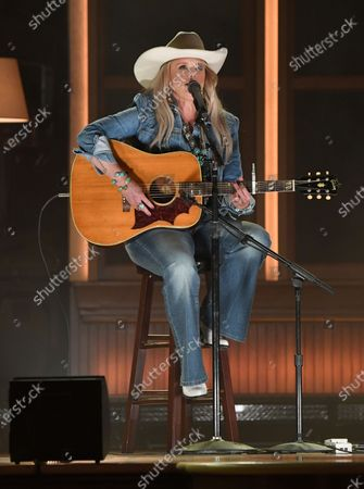 """Miranda Lambert performs """"In His Arms"""" at the 56th annual Academy of Country Music Awards, at the Ryman Auditorium in Nashville, Tenn"""