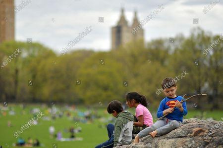 Springtime in Central Park, New York