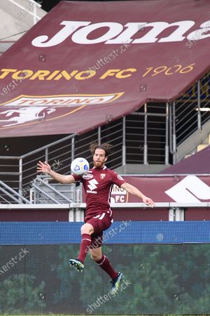 Cristian Ansaldi of Torino FC  during the Serie A football match between Torino FC and AS Roma. Sporting stadiums around Italy remain under strict restrictions due to the Coronavirus Pandemic as Government social distancing laws prohibit fans inside venues resulting in games being played behind closed doors. Torino FC won 3-1 over AS Roma
