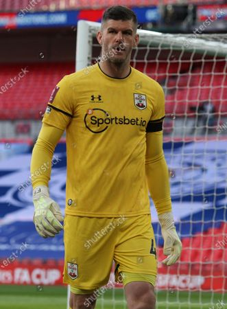Fraser Forster of Southampton during Emirates FA Cup Semi-Final between Leicester City and Southampton at Wembley stadium,  in London, United Kingdom, on 18th April  2021.