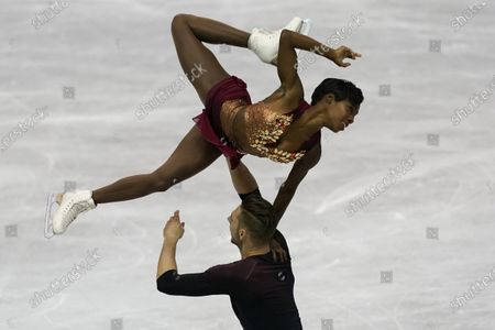 Two-time Olympian Vanessa James of France will be performing at Figure Skating in Harlem's 2021 Champions in Life Virtual Gala on Thursday, April 22, 2021