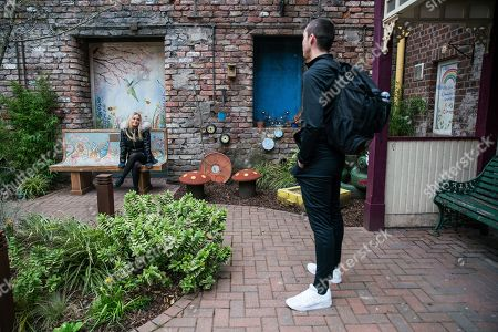 Coronation Street - Ep 10314 Friday 30th April 2021 - 2nd Ep When Kelly Neelan, as played by Millie Gibson, accuses Corey Brent, as played by Maximus Evans, of turning into Mr Boring, Corey reckons she's jealous, but it's clear they're enjoying the banter.
