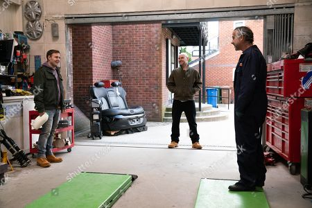 Stock Picture of Coronation Street - Ep 10311 Wednesday 28th April 2021 - 1st Ep Tyrone Dobbs, as played by Alan Halsall, and Tim Metcalfe, as played by Joe Duttine, bicker over the best place to hold Kevin Webster's, as played by Michael Le Vell, stag do.