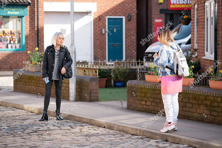 Coronation Street - Ep 10310 Monday 26th April 2021 - 2nd Ep Refusing to take no for an answer, Gemma Winter, as played by Dolly-Rose Campbell, drags Sharon Bentley, as played by Tracie Bennett, to the Rovers for cocktails.
