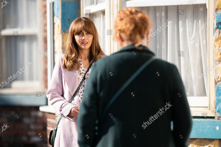 Coronation Street - Ep 10310 Monday 26th April 2021 - 2nd Ep Fiz Stape, as played by Jennie McAlpine, makes up with Maria Connor, as played by Samia Longchambon, and admits her biggest fear is that the girls will choose Alina over her.